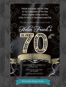 70th birthday bash custom designed by brooklyndesignstudio