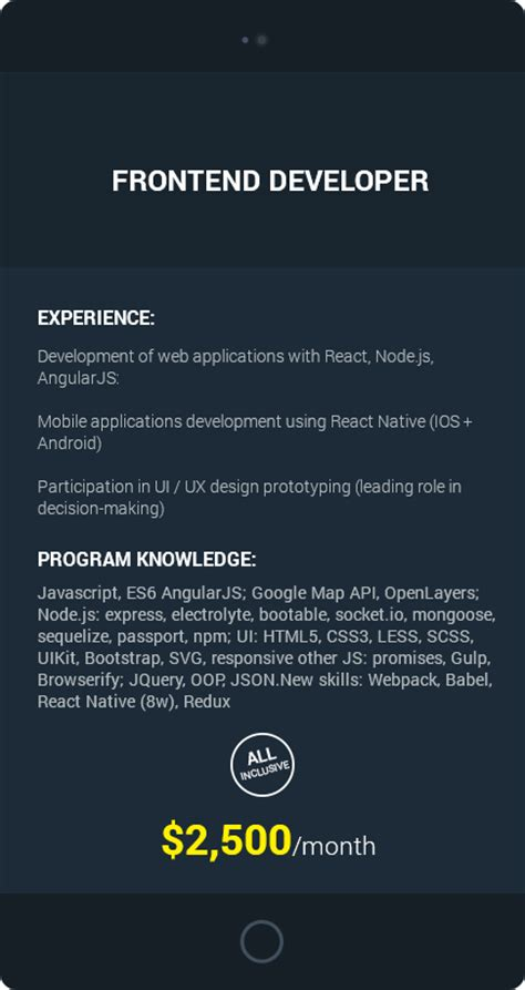React Js Developer Resume
