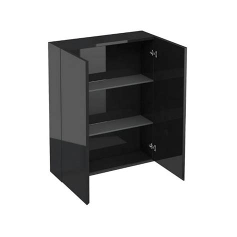 aqua cabinets mm black gloss wall cabinet bathroom storage cb cb sanctuary bathrooms