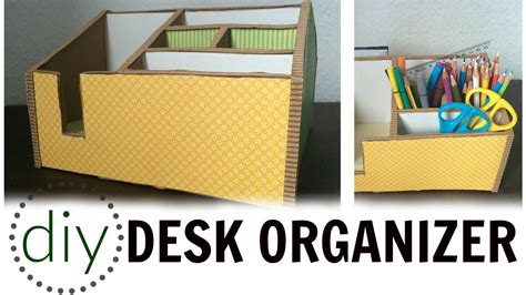 How To Make A Desk Organizer Diy Desk Organizer