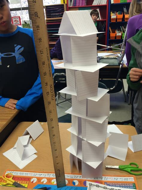 How To Make A Tower With One Of Paper - mrs mcgee s world