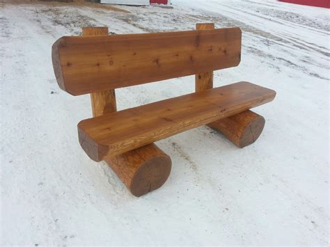 cedar log bench cedar log bench for memorial lake regional park shell