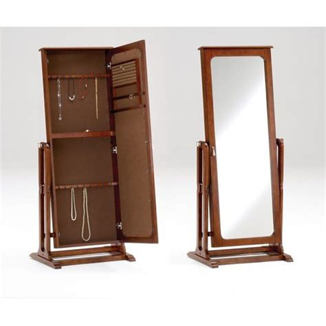stand up mirror jewelry armoire stand up mirror jewelry box