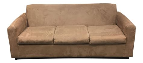 camel color sofa camel color mico fiber sofa chairish