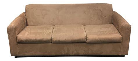camel color couch camel color mico fiber sofa chairish