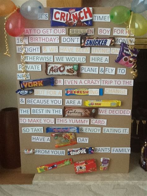 Birthday Card Made Out Bars 17 Best Ideas About Candy Birthday Cards On Pinterest