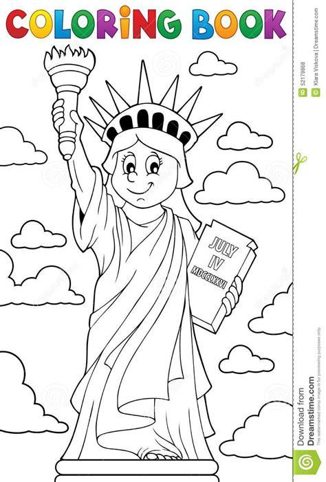 Statue De Livre De Coloriage Du Th 232 Me 1 De Libert 233 Statue De La Liberte Coloriage L