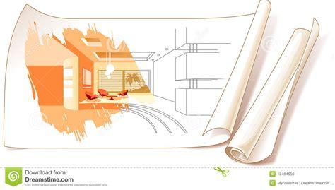interior design drawings stock photo image 13464650