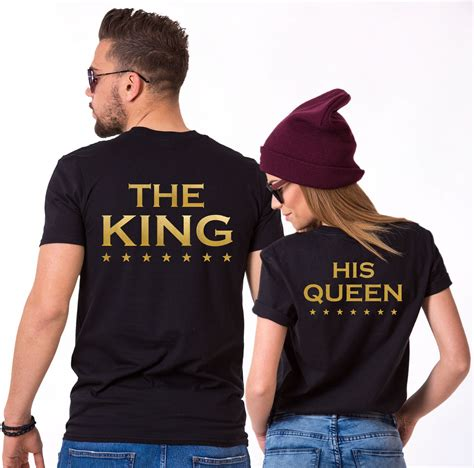 Matching Print Shirt king print with matching couples