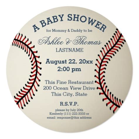 baseball baby shower invitation templates baseball baby shower invitation zazzle