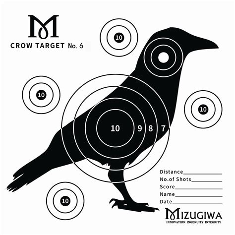 printable crow targets 150x air rifle shooting paper targets airsoft pistol