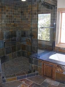 Slate Bathroom Ideas Slate Tile Shower