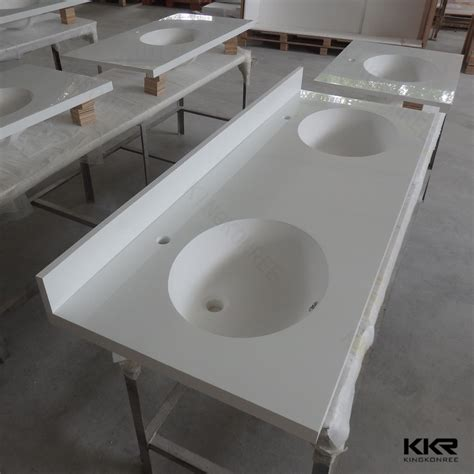 seamless joint solid surface bathroom countertops with