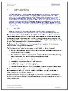 software installation template deployment plan template 28 page ms word sle