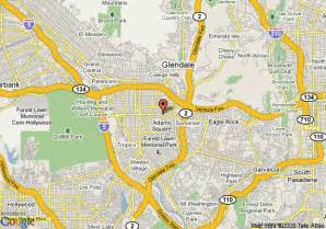 where is glendale california on a map map of chariot inn glendale