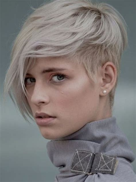 short haircuts with minimum care platinum blond short hair youth short hairstyle with long