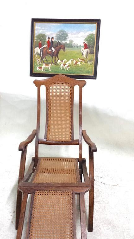 luxury deck chairs antique folding luxury wood steamer deck chair circa 1890