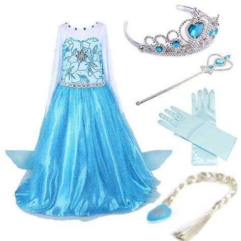 Princess Kostum Elsa Frozen disney elsa frozen dress costume princess dresses ebay