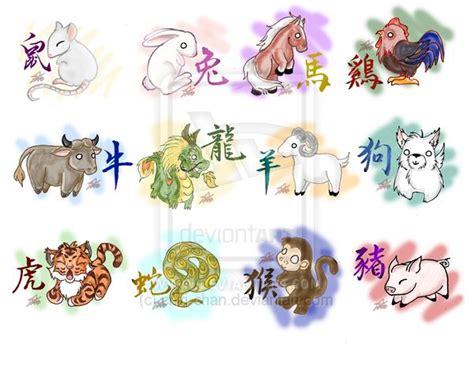 animal zodiac tattoo silly chinese zodiac animals by chiri chan deviantart com