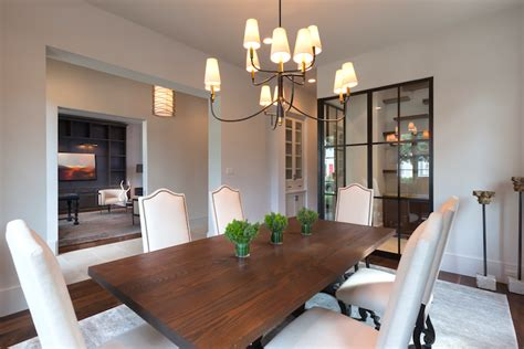 large farlane chandelier transitional dining room