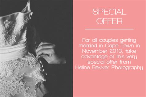 Special Wedding Photography by Wedding Photography Special Offer From Heline Bekker