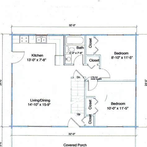Dig 16 X 24 Cabin Floor Plans Floor Plans For A 12 X 32 House