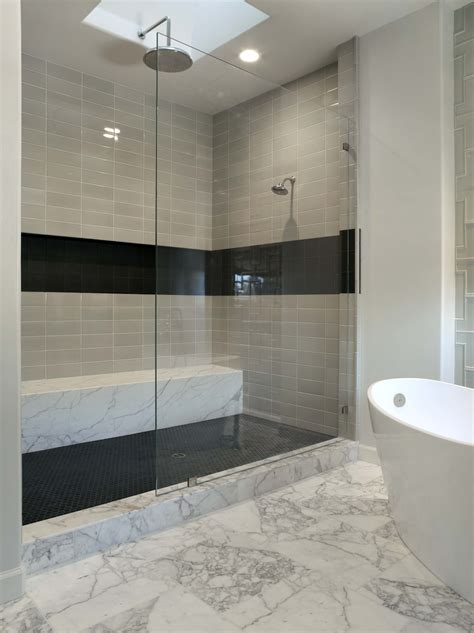 re tiling bathroom floor shower floor with black hex tile this is also a similar