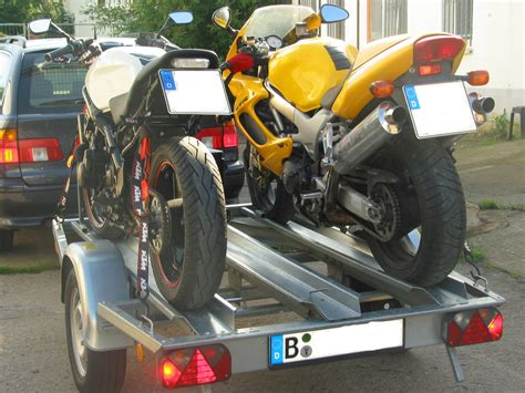 Motorrad Anh Nger Mieten by Motorrad Befestigungs Set F 252 R Ein Bike Auf Dem Anh 228 Nger