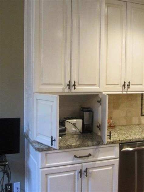 cabinet that hides appliances favorite kitchens pinterest i also like the idea of a cabinet to hide all of the small