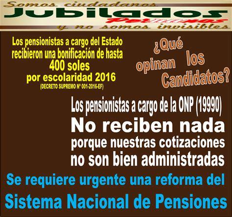 hay algun umento en junio penciones 2016 somos jubilados peruanos pensionista reclaman sus