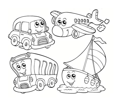 coloring pages trains preschoolers transportation coloring worksheets for preschool electric