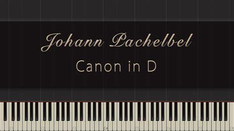 keyboard tutorial canon johann pachelbel canon in d synthesia piano tutorial