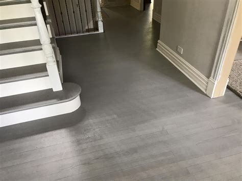 Hinsdale   Gray color Hardwood Floor and stairs final look