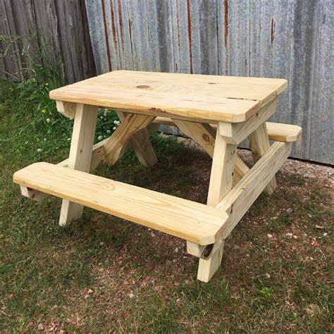 small picnic bench wood picnic table heavyduty boltthru wooden picnic table