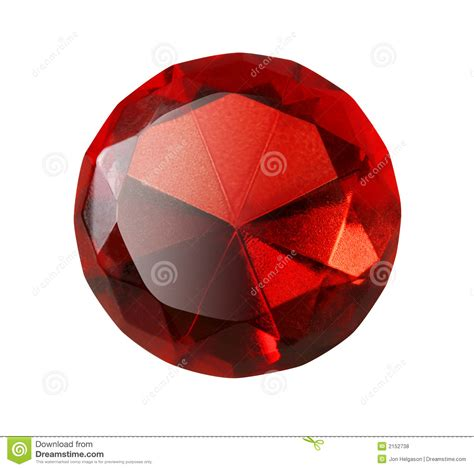red gem red gem isolated royalty free stock photos image 2152738