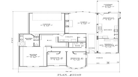 House Plans With Rear Garage Simple Small House Floor Ranch House Plans With Rear Exposure
