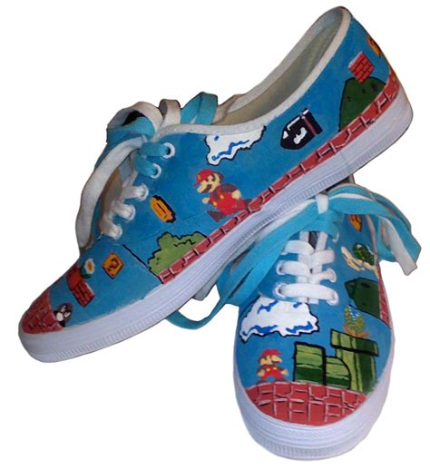 brothers shoes painted mario brothers shoes all gifts considered