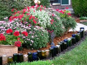 Bottle Gardening Ideas Wine Bottle Edging Things I Garden Ideas Gardens And Landscape Designs