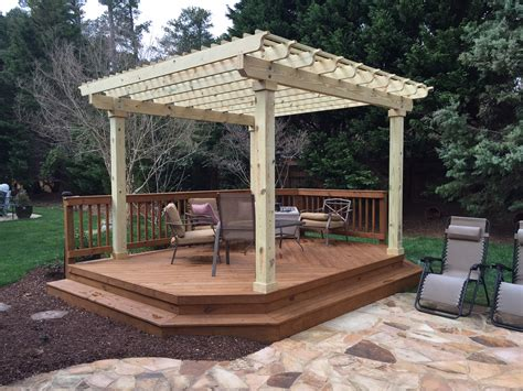 pergola with deck the 5 most popular deck designs explained by archadeck