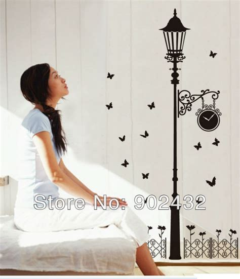 Wallsticker Jm 7151 free shipping vinyl wall stickers ls and iron fence diy home decor wall decals jm7177