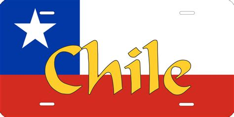 chile flag colors chile flag license plate photo zone