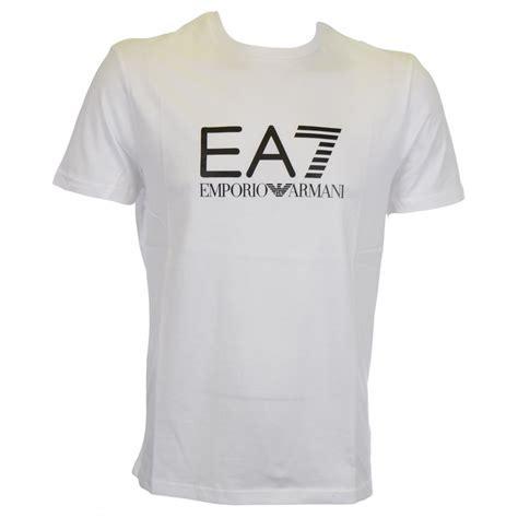 tshirt armani iii ea7 by emporio armani big logo white t shirt ea7