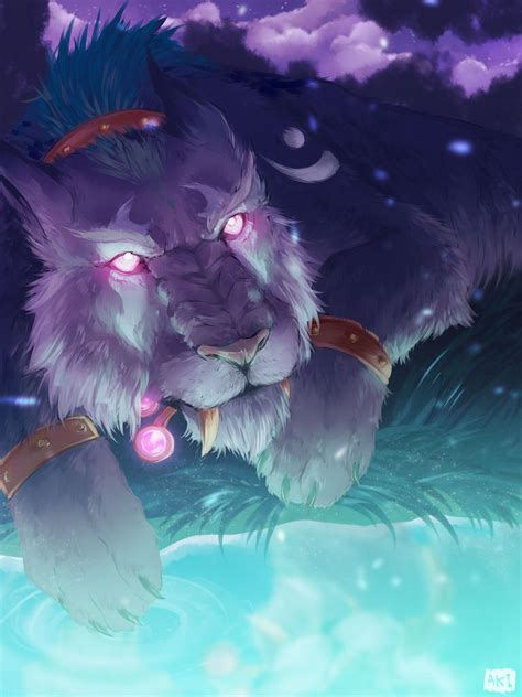 nightelf cat by gardenshard on deviantart