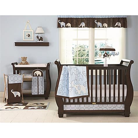 Bed Bath And Beyond Crib Bedding Buy S 174 Blue Elephant 4 Crib Bedding Set From Bed Bath Beyond