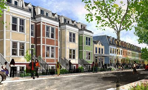 Narrow Homes construction on anacostia s w street townhouses could