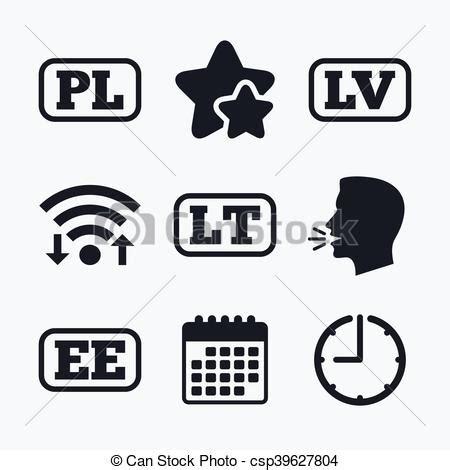 language lt language icons pl lv lt and ee translation language