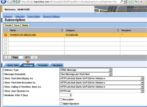 sap workflow administrator sap business workflow notifications configuration