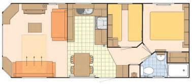 static caravan floor plan three caravan leven park fife scotland