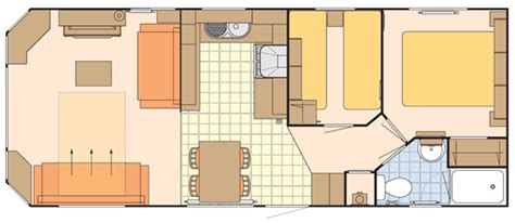 caravan floor plan layouts three star caravan leven beach holiday park fife scotland