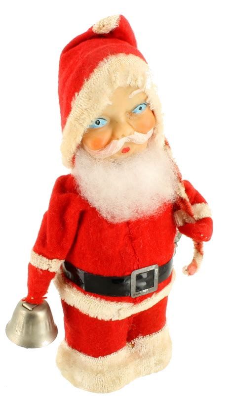 vintage alps santa claus christmas wind up toy celluloid